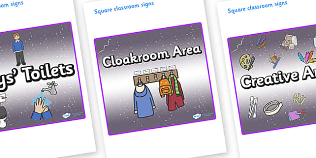 Lynx - Star Constellation Themed Editable Square Classroom Area Signs (Plain) - Themed Classroom Area Signs, KS1, Banner, Foundation Stage Area Signs, Classroom labels, Area labels, Area Signs, Classroom Areas, Poster, Display, Areas