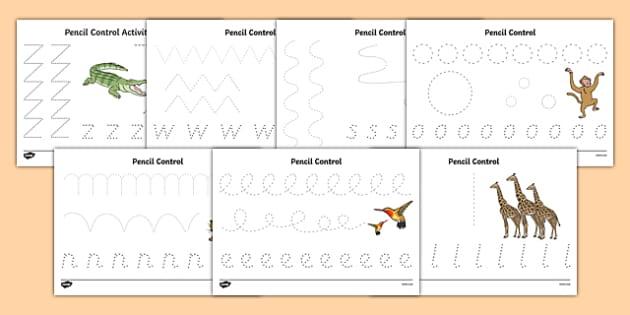 Crocodile Themed Pencil Control Sheets - The Selfish Crocodile, fine motor skills, reptiles, ks1, eyfs, pen, writing, drawing