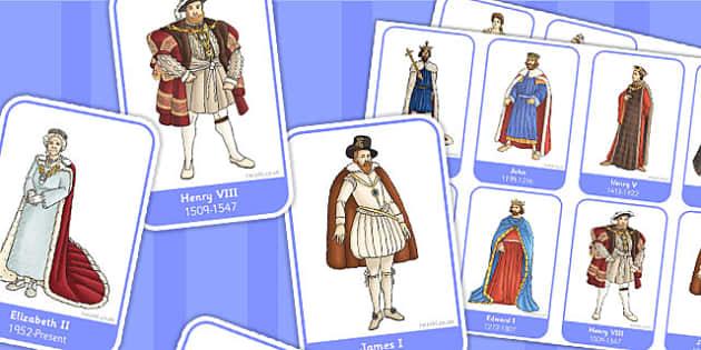 Significant British Monarchs Flashcards - monarch, flashcard