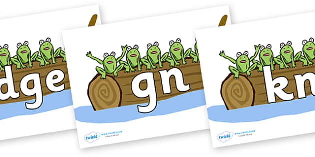 Silent Letters on Five Speckled Frogs - Silent Letters, silent letter, letter blend, consonant, consonants, digraph, trigraph, A-Z letters, literacy, alphabet, letters, alternative sounds
