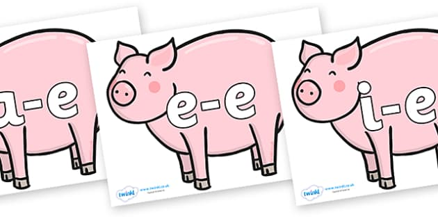 Split Digraphs on Chinese New Year Pig - Modifying E, letters, modify, Phase 5, Phase five, alternative spellings for phonemes, DfES letters and Sounds