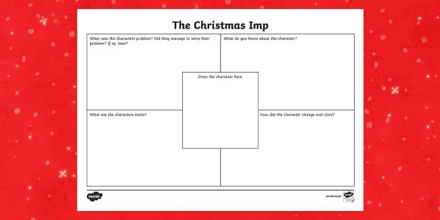 The Christmas Imp Character Description Writing Template - The Christmas Imp, the grinch,thegrinch who stole christmas, christmas, green, imp