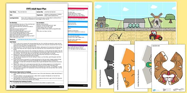 Little Red Hen Bee Bot EYFS Adult Input Plan and Resource Pack - little red hen, bee bot, pack