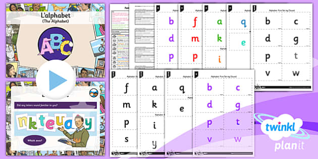 PlanIt - French Year 3 - Family and Friends Lesson 3: Alphabet Lesson Pack - french, languages, alphabet