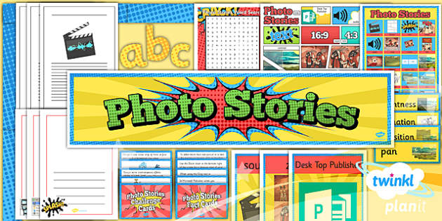 PlanIt - Computing Year 4 - Photo Stories Unit Additional Resources - computing, photo, stories, ks2, ict, planning, 2014