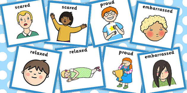 Emotions Matching Cards Set 2 - emotions, matching, cards, set