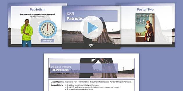 Patriotic Posters Lesson Teaching Pack