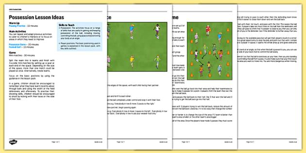 UKS2 Football Skills 6 Possession Lesson Pack - football, PE, sport, exercise, KS2, UKS2, Key Stage 2, year 5, year 6, skills, physical education, ball skills, team sports
