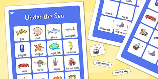 Under the Sea Vocabulary Poster - under the sea, display posters, themed posters, images, pictures, key words, under the sea vocabulary, vocabulary, vocab