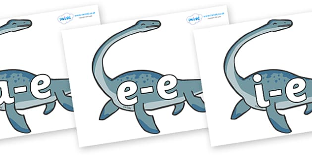 Modifying E Letters on Plesiosaur - Modifying E, letters, modify, Phase 5, Phase five, alternative spellings for phonemes, DfES letters and Sounds
