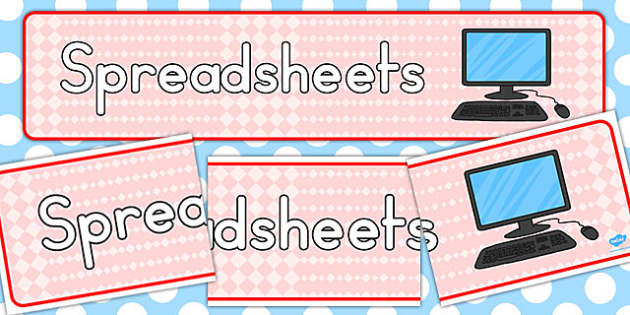Spreadsheets Display Banner - banners, displays, spreadsheet