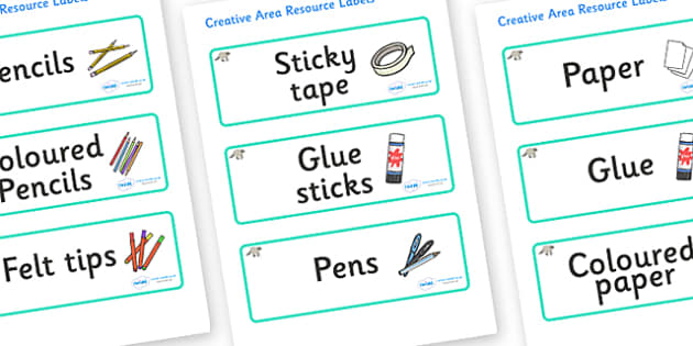 Raccoon Themed Editable Creative Area Resource Labels - Themed creative resource labels, Label template, Resource Label, Name Labels, Editable Labels, Drawer Labels, KS1 Labels, Foundation Labels, Foundation Stage Labels