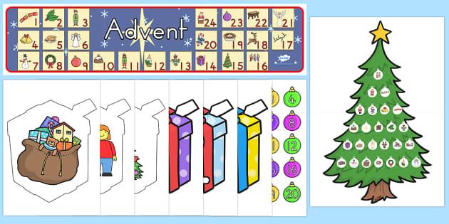 Ready Made Advent Display Pack - australia, christmas, display