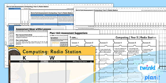 PlanIt - Computing Year 5 - Radio Station Unit Assessment Pack - planit, computing, year 5, radio station