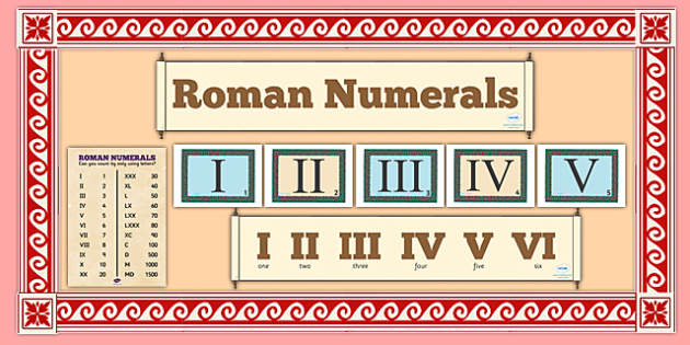 Roman Numerals Display Pack
