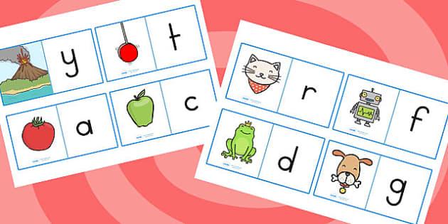 Initial Sound Loop Cards - initial sound, loop cards, literacy