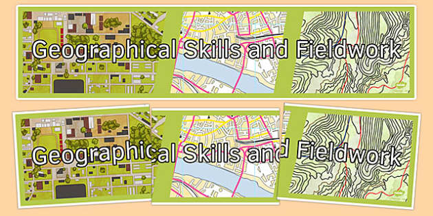 Geographical Skills and Fieldwork Display Banner - geographical, skills, fieldwork, display banner, display, banner