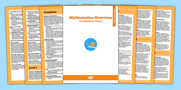 AusVELs Victorian Curriculum Foundation to Level 6 Maths Overview - australia