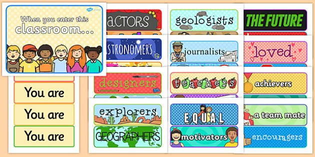 When You Enter this Classroom Display Pack - classroom display