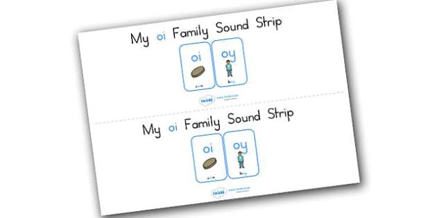 My Oi Family Sound Strip - sound family, visual aid, literacy
