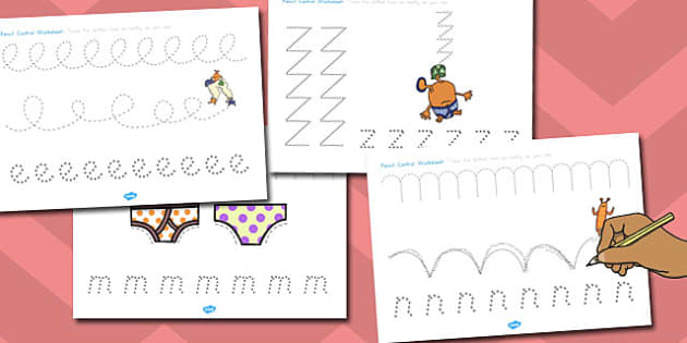 Pencil Control Worksheets to Support Teaching on Aliens Love Underpants - australia