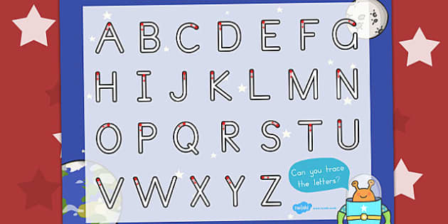Space Themed Letter Writing Worksheet - Letters, Worksheets