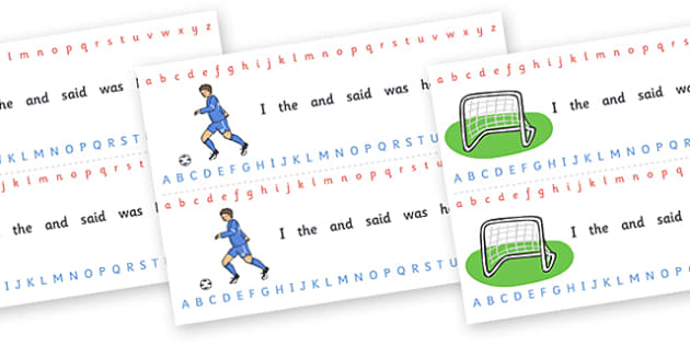 Alphabet Strips (Football) - education, home school, child development, children activities, free, kids, worksheets, how to write, literacy, alphabet