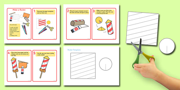 Make a Paper Model Rocket Instruction Sheets - make a rocket, model, rocket model, instruction sheets, instruction, how to make, a rocket, instructions, design, making a rocket, template, creative, art
