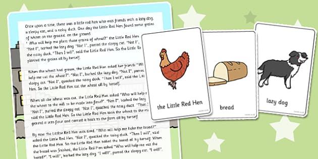 Little Red Hen Listening Story Activity - listen, story, activity
