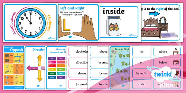 PlanIt Y1 Position and Direction Display Pack - Position, direction, movement, geometry, y1, year 1, ks1, maths, posters, poster, word cards, word m