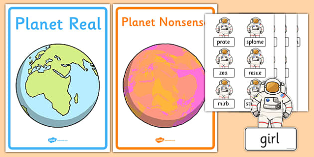 Phase 5 Real and Nonsense Words Sorting Activity Sheet, worksheet