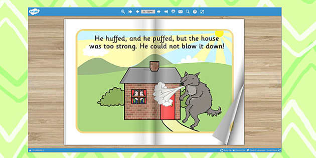 The Three Little Pigs eBook - books, interactive books, read