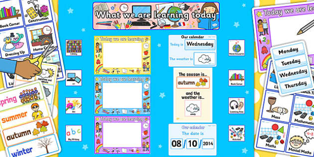 Ready Made What We Are Learning Today Display Pack - ready made