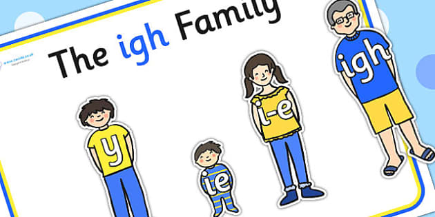 Igh Sound Family Cut Outs - sound families, sounds, cutouts, cut