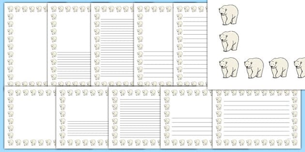 Polar Bear Page Borders - polar bear, page borders, page, borders, arctic, animals