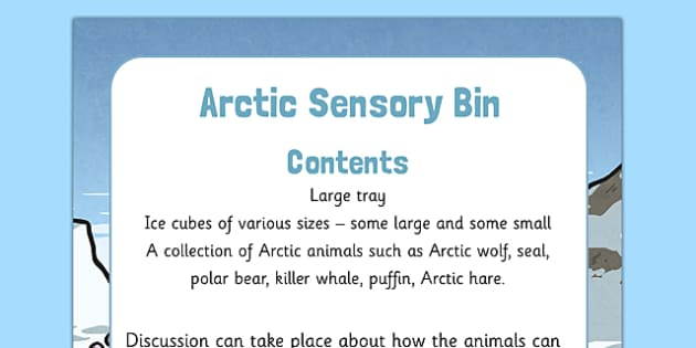 Arctic Sensory Bin - arctic, sensory bin, sensory, bin, eyfs