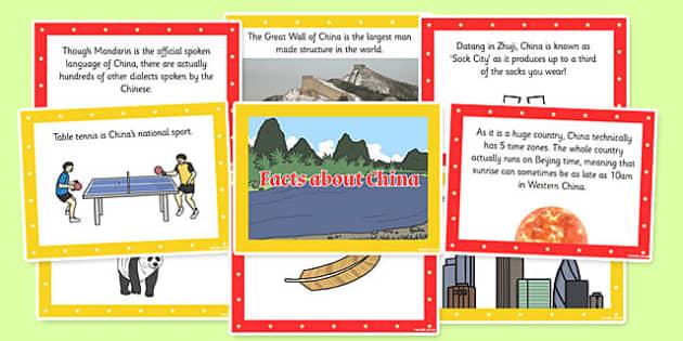 China Display Fact Cards - china, display, fact cards, fact, card