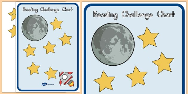 Reading Challenge Chart Space - reading, read, challenge, chart