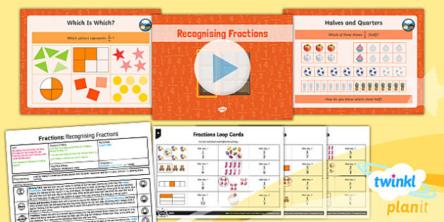 PlanIt Y3 Fractions Lesson Pack Recognise Fractions of a Set of Objects - Fractions, fractions of groups, fraction of a group, fraction of an amount, fraction of a number, fraction of a set