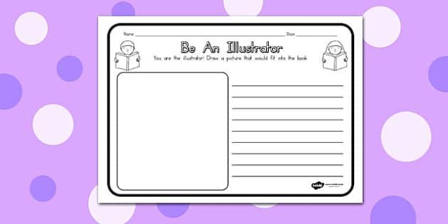 Be an Illustrator Comprehension Worksheet - australia, worksheet