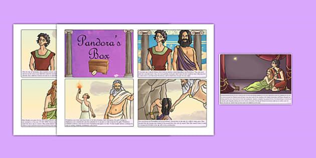 Pandoras Box Ancient Greek Myth Story Cards - ancient greece