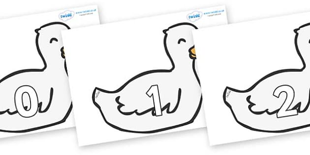 Numbers 0-100 on Mother Duck - 0-100, foundation stage numeracy, Number recognition, Number flashcards, counting, number frieze, Display numbers, number posters