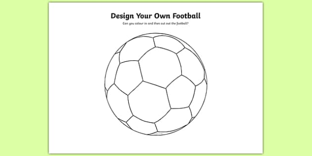 Design a Football - Football, World Cup, Soccer, fine motor skills, colouring, designing, activity, foundation stage, euro 2016