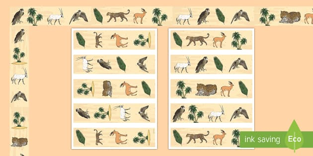Arabian Animals Display Borders - Science, Living World, Arabian, Animals, UAE, borders, Display - Science, Living World, Arabian, Animals, UAE, borders, Display