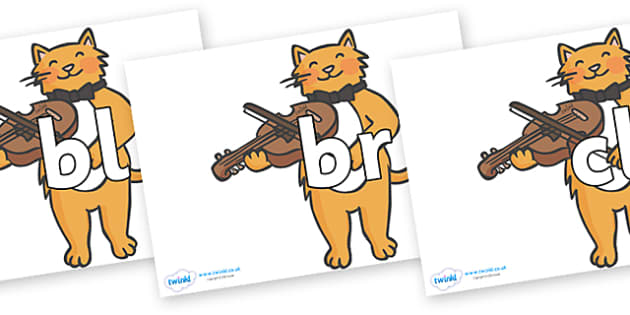 Initial Letter Blends on Cat and Fiddle - Initial Letters, initial letter, letter blend, letter blends, consonant, consonants, digraph, trigraph, literacy, alphabet, letters, foundation stage literacy