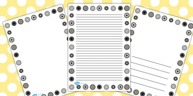 Cogs Page Borders - cogs, page, borders, page borders, frame