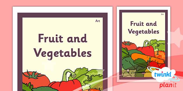 PlanIt - Art LKS2 - Fruit and Vegetables Unit Book Cover - planit, book cover, art and design, art, lks2, fruit and vegetables