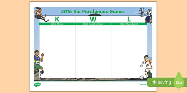 Australia Rio Paralympics 2016 KWL Grid.