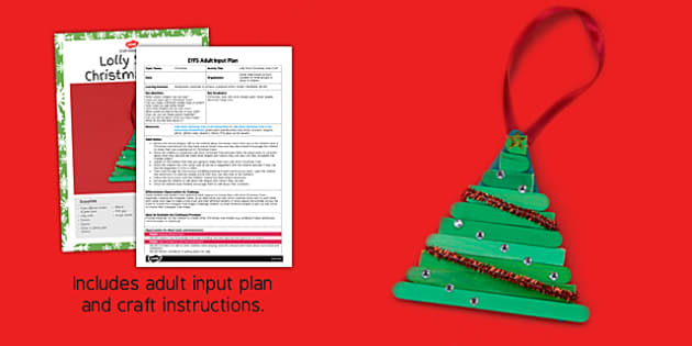 Lolly Stick Christmas Tree Craft Adult Input Plan And Resource Pack