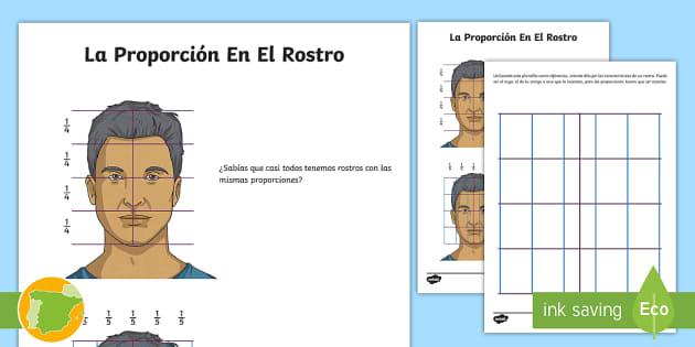 Ficha de actividad: La proporción en el rostro   - retrato, autorretrato, rasgos faciales, proporciones, medidas del rostro, medidas del cuerpo humano,